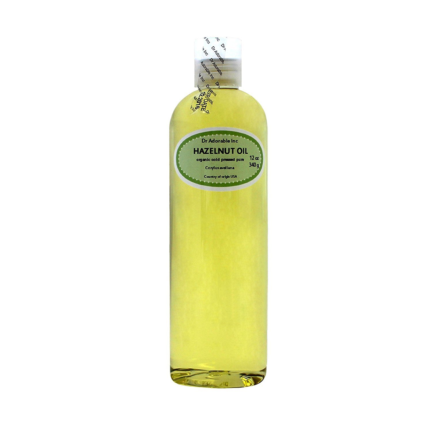 Hazelnut Oil Organic Pure Expeller Pressed by Dr.Adorable 12 Oz