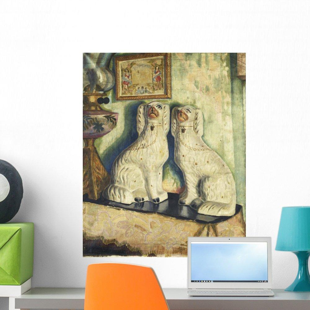 Amazon.com: Wallmonkeys Staffordshire Dogs Dora Carrington Wall ...