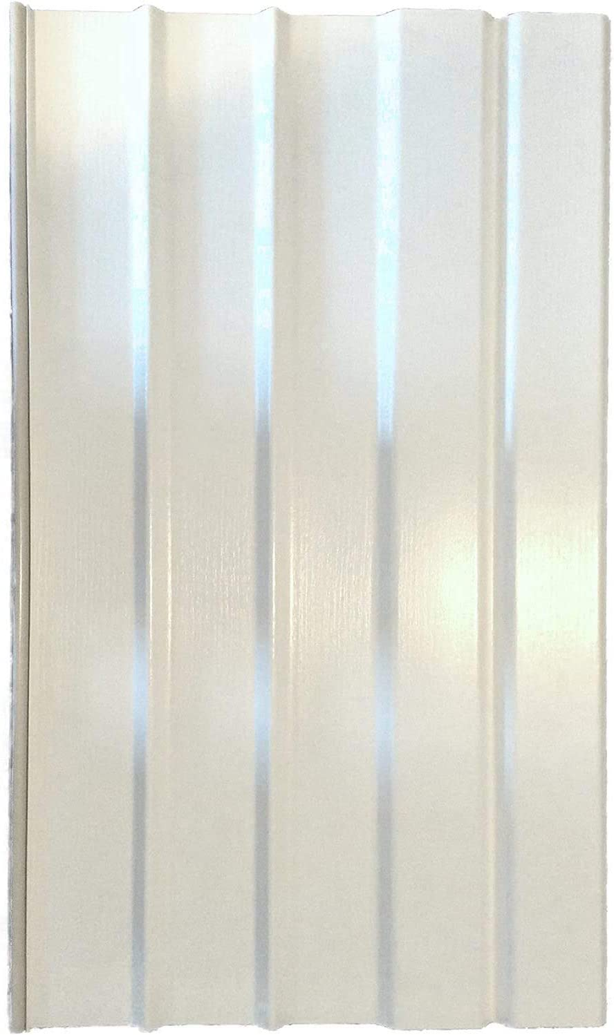 "Lifestyle Mobile Home Vinyl Skirting Box of 10 White Solid Panels 16"" Wide X 28"" Tall. Premium 40 Mil Thickness"