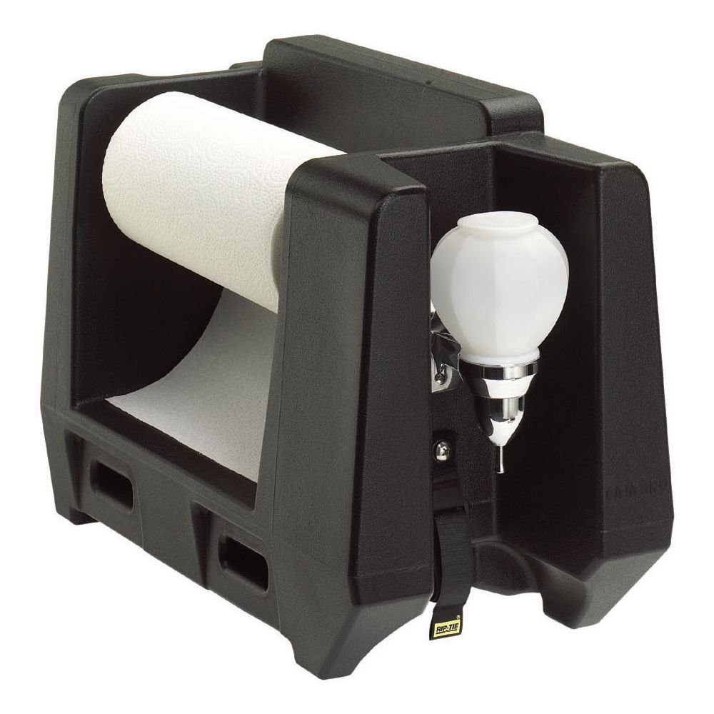 Cambro HWAPR-110 Handwashing Station with Paper Towel Roll Dispenser, Black by Cambro