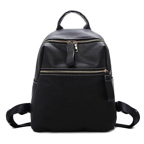 VHVCX Vintage de cuero suave simple mochilas Mujer 2018 Moda Escuela de Espalda Paquete Bagpack sólida marca con Negro Mochila, Negro: Amazon.es: Zapatos y ...