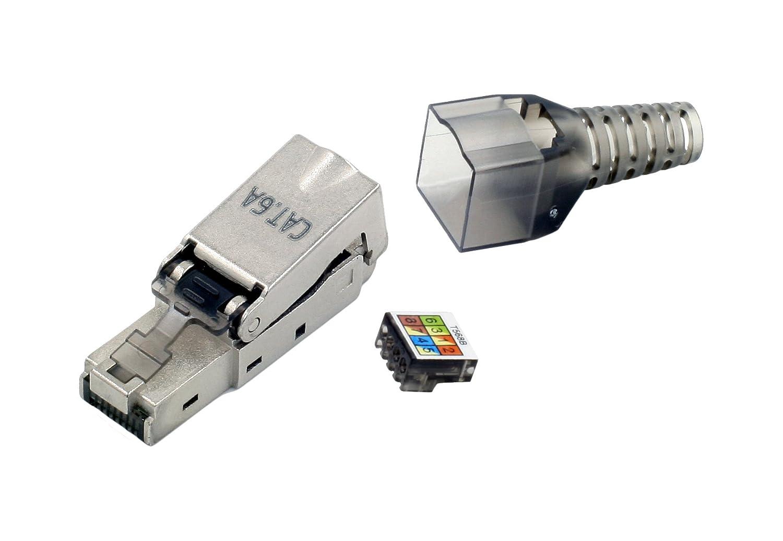 tsnetworks CAT.6a RJ45 Stecker 500Mhz, 10Gbit: Amazon.de: Computer ...