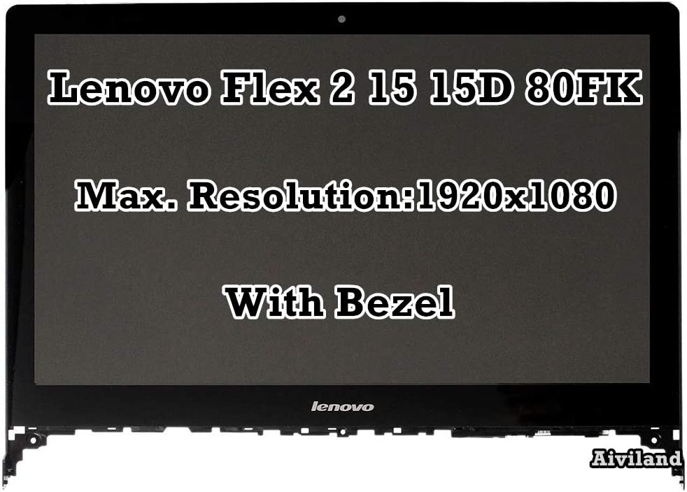 "15.6"" FHD 1920x1080 LCD LED Display 1080P Panel Touch Screen Digitizer with Frame for Lenovo Flex 2-15 15D 80FK 5D10F86071 20405"