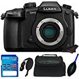 Panasonic Lumix DC-GH5 Mirrorless Micro Four Thirds Digital Camera (Body Only) with 32GB Memory Card, Case, and Pixi-Starter Bundle