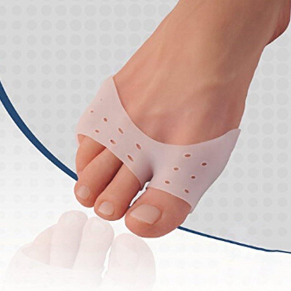 yinew Ortesis de pie separador de dedos ortopédico para juanetes Gel de silicona), color blanco