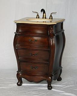 24 Inch Antique Style Single Sink Bathroom Vanity Model 2400 505 BE