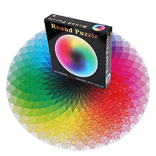 Round Jigsaw Puzzles 1000 Pieces Rainbow Puzzle for Adults and Kids (Rainbow Jigsaw)
