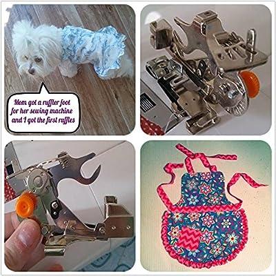 WeFoonLo 1 pieza Ruffler Máquina de coser Accesorio Prensatelas para hermano de vástago bajo, Cantante, Babylock ...