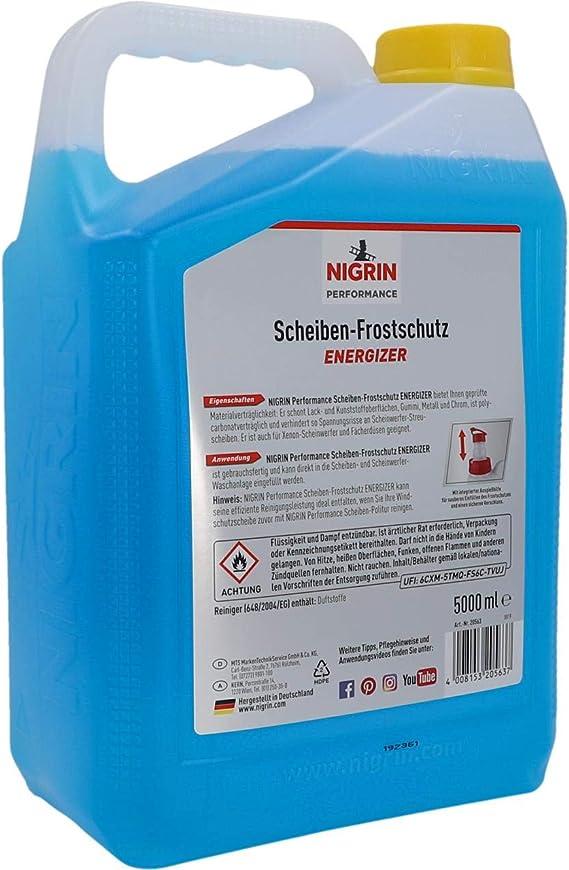 Nigrin 20563 Scheiben Frostschutz Bis 22 C Wirksam Schneller Schlierenfreier Und Effektiver Scheibenreiniger 5 L Kanister Auto