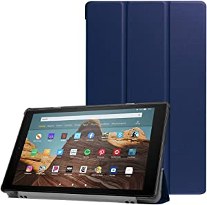 "ESSTORE-EU Case for Fire HD 10 Tablet (10.1"" Tablet, 9th/7th Gen – 2019/2017 Release), Lightweight Stand Smart Case with Auto Sleep/Wake - Navy Blue"
