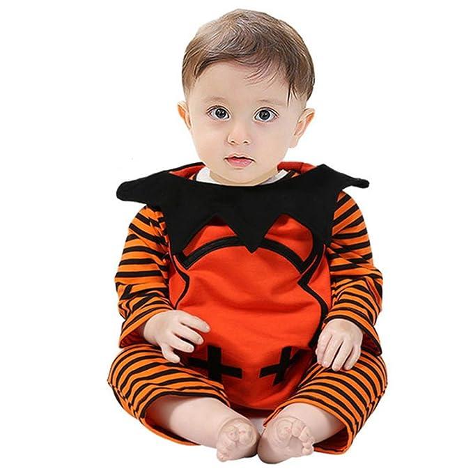 Yannerr Bebé niño recién nacido rayado monstruo mameluco trajes de ...