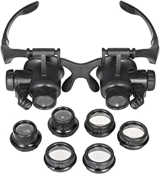 10//15//20//25X Head-Mounted Magnifying Glass Magnifier Watchmaker Repair Loupe UK