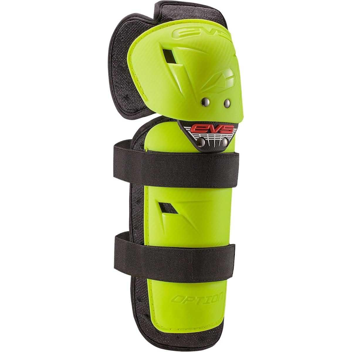 EVS 2016 Option Adult Knee Guard Off-Road Motorcycle Body Armor - Hi-Viz Yellow/One Size