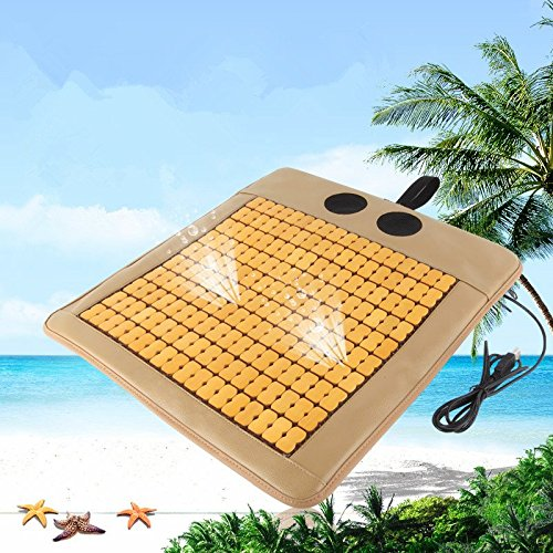 Voion® Portable Air Cooling Cushion, Dual Hi-Speed Fans, Sustained Cooling Breathable, Carbonized Nature Bamboo Handmade, USB Out, Cooler Cushion Seat…