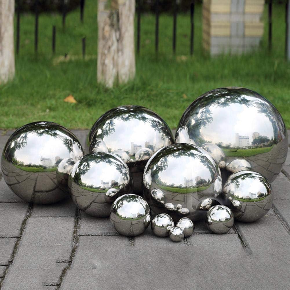 Rich-home Bolas de Hierro de Observación de Acero Inoxidable de Bolas Huecas Bolas de Estanque Flotante Esfera de Bola de Espejo Sin Costura para El Hogar Decoración de Adornos de Jardín Familiar