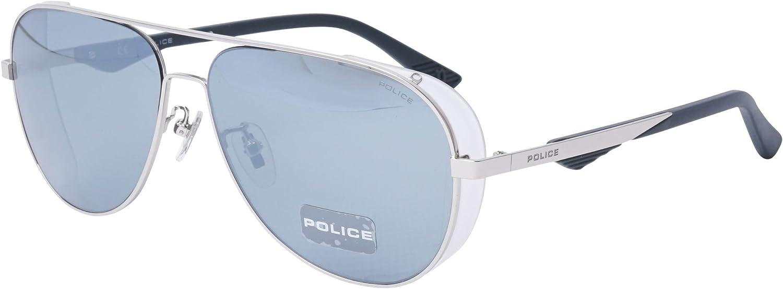 Police - Gafas de sol - para hombre Plateado Silber - Gerã¤uchert Kristall 60