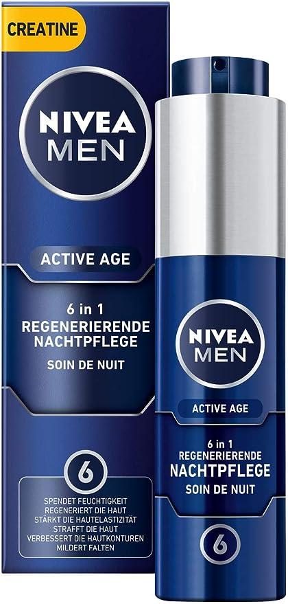 Nivea Men Active Age - Crema regeneradora de noche en pack de 1 (1 ...