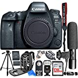 Canon EOS 6D Mark II Digital SLR Camera Body + Complete Creator Accessory Bundle + DigitalAndMore Microfiber Cloth