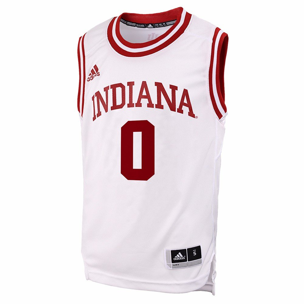 431ee5466ef Amazon.com   Indiana Hoosiers NCAA Adidas White Official Home Replica  0 Basketball  Jersey For Youth   Sports   Outdoors