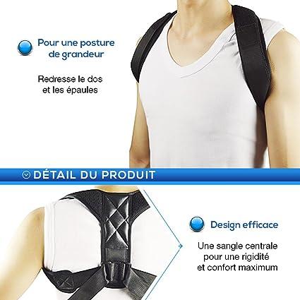 Bluetechline Cinturón-arnés de corrección postural para espalda, cuello y hombros