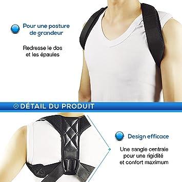 prix d'usine haut de gamme véritable nouveaux styles redresse dos femme ou homme, correcteur de posture dorsale, ceinture  dorsale pour se tenir droit, ceinture maintien dos et épaules pour une  posture ...