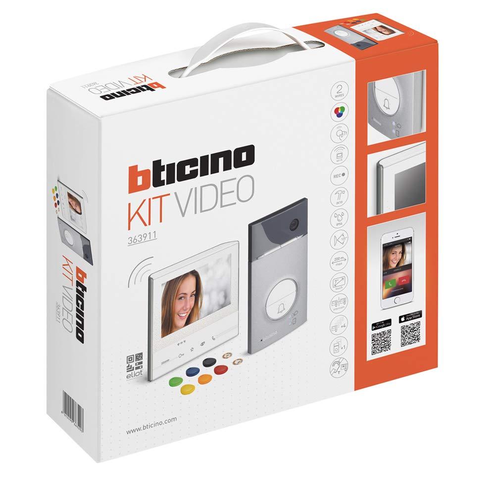 Interphone Bticino 363911 Classe 300 X13e Et Linea 3000 Avec Support Blanche