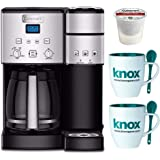 Cuisinart SS-15 12-Cup Coffee Maker and Single-Serve Brewer, Stainless Steel Includes 12 Pack K-Cup and Mug with Spoon (Certified Refurbished)