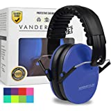 Vanderfields Earmuffs for Kids Toddlers Children - Hearing Protection Ear Defenders for Small Adults Women - Foldable Design Ear Defenders Adjustable Padded Headband Noise Reduction …