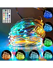 Cocoselected Fairy Lights for Bedroom,33feet 100LEDs 16 Colors Twinkle Lights USB Powered,Indoor String Lights for Room Decor