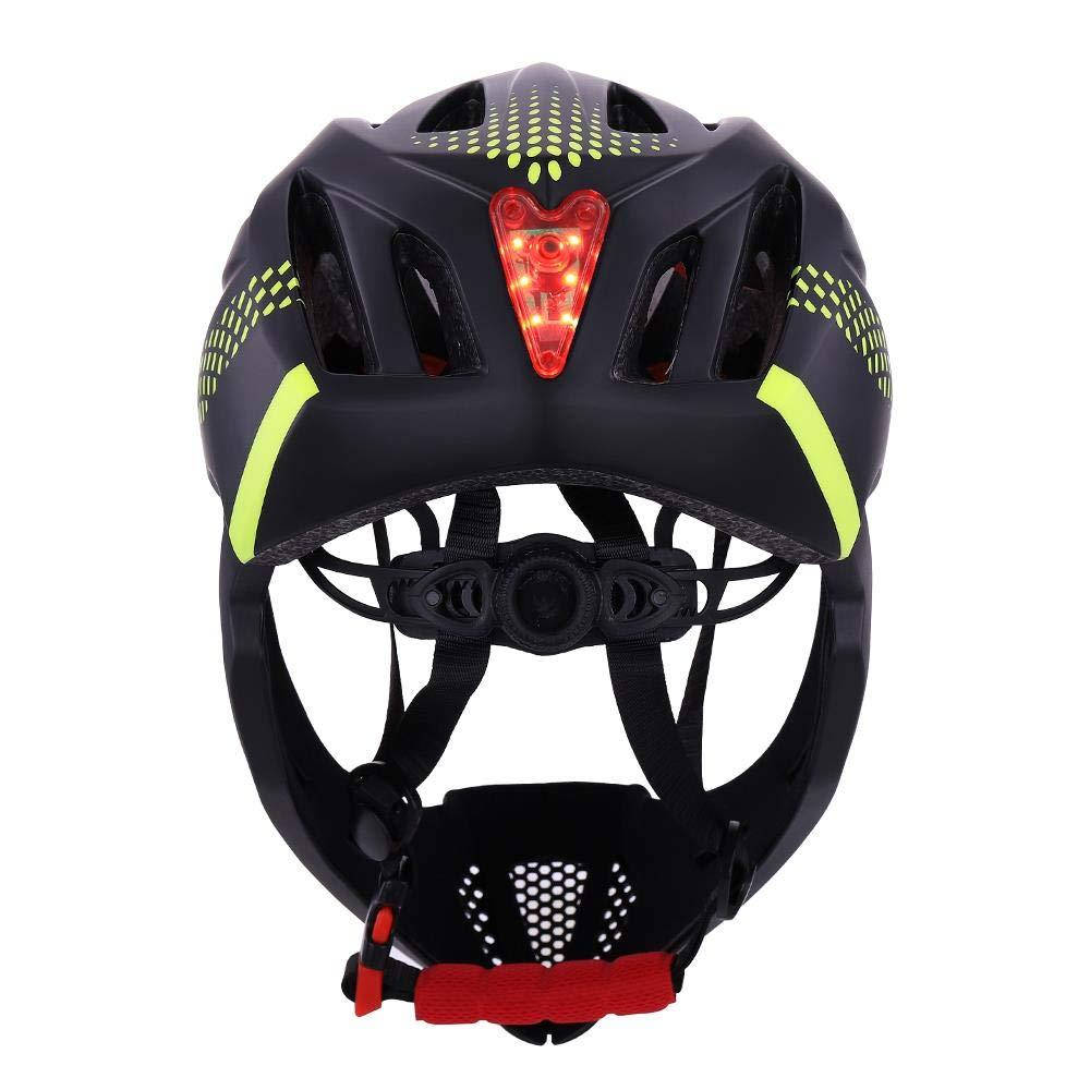 LIUDATOU Led de Cara Completa Casco de Bicicleta de monta/ña Equilibrio Bicicleta Seguridad Deportiva Cascos Cubiertos completos Scooter de Descenso BMX Verde