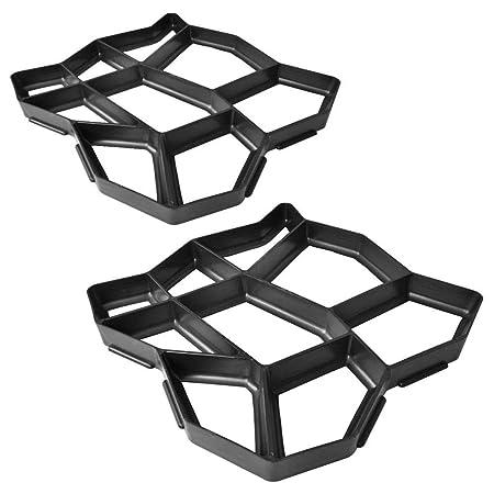 Pavimento Plastica Da Giardino.Soulong 2 Pezzi Stampo Per Pavimenti Stampo Per Vialetto Da