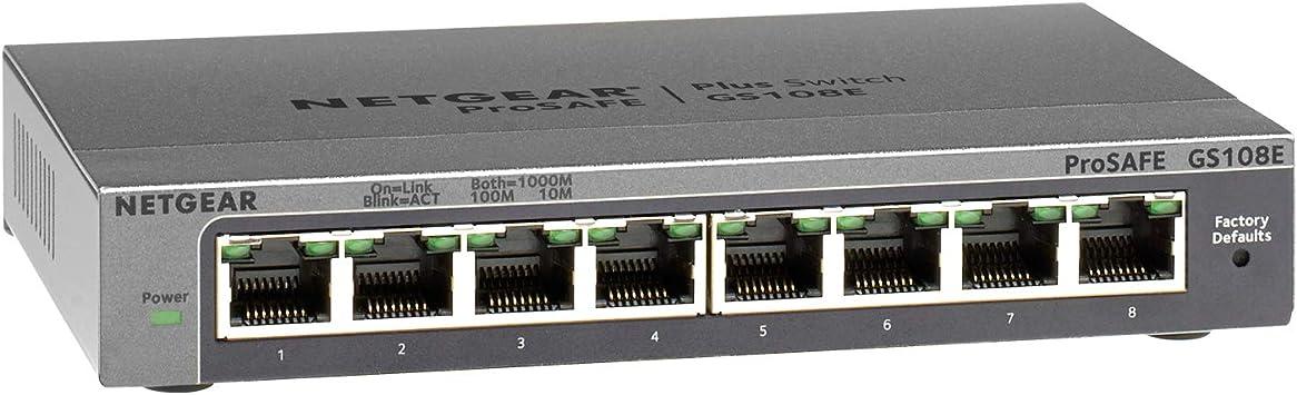Netgear Gs108e Switch 8 Port Gigabit Ethernet Lan Computer Zubehör