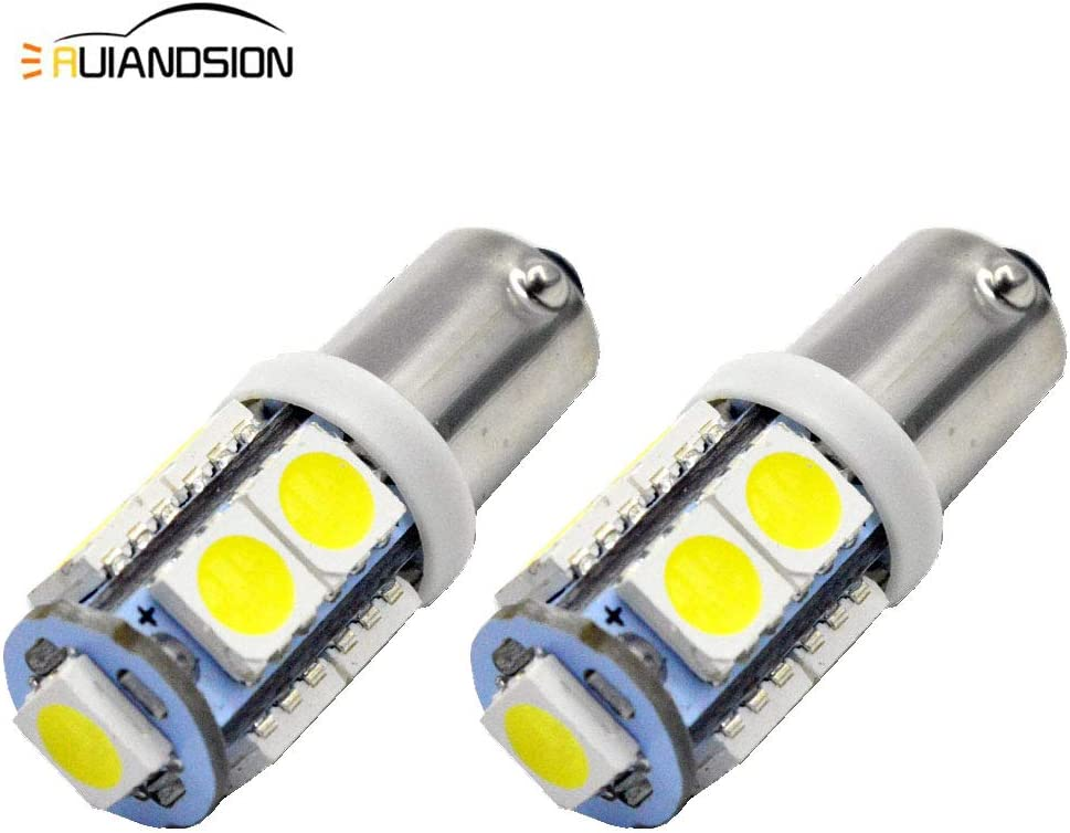 Ruiandsion 2pcs BAY9S H21W Bombilla LED 24V Super Brillante 5050 9SMD Chipset LED Bombilla de luces de marcha atrás de respaldo, Blanco