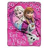 Northwest Disney Frozen Springtime Let It Go! Silk Touch Plush Throw Pink