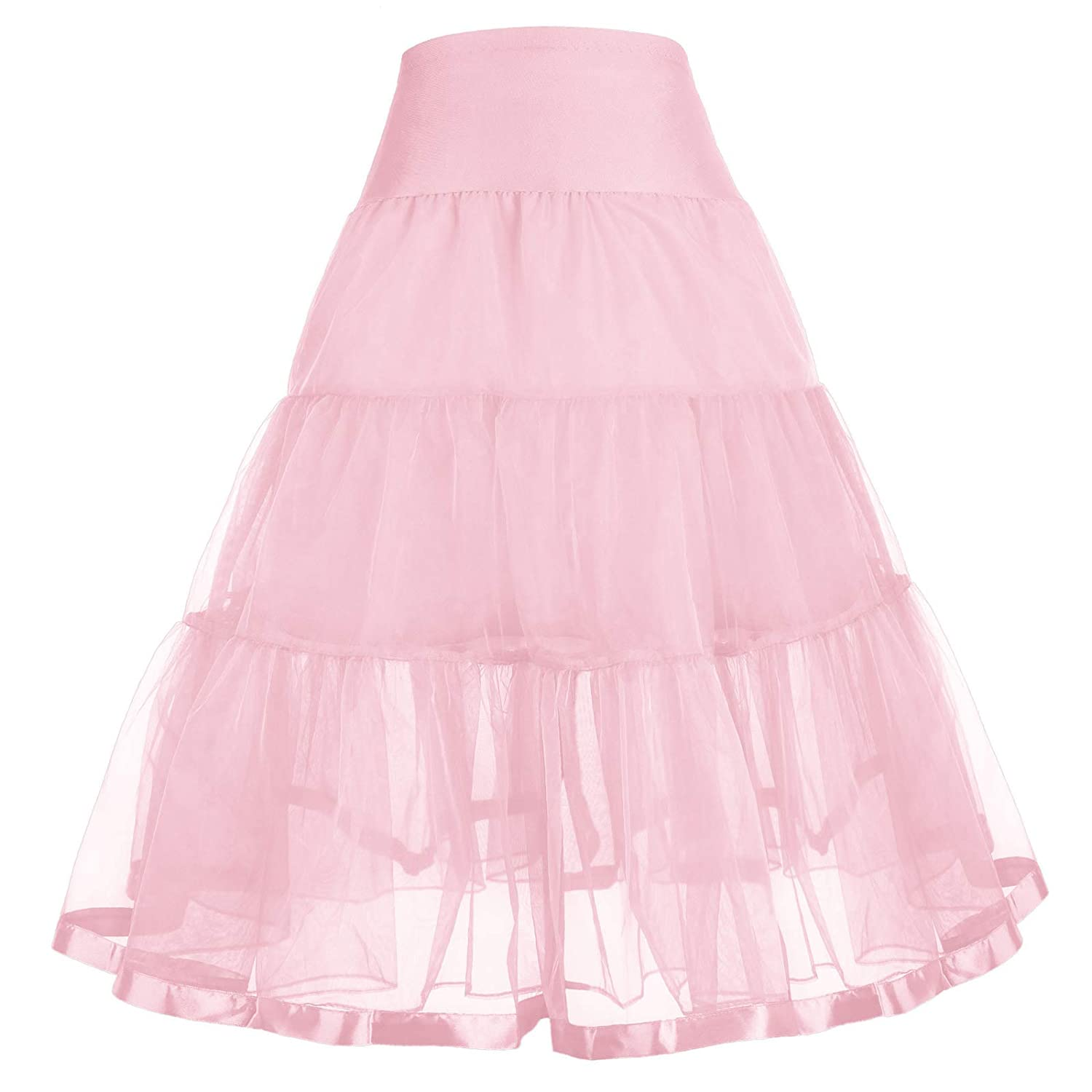 GRACE KARIN Little Girl Voile Crinoline Tutu Petticoats(Long/Short)