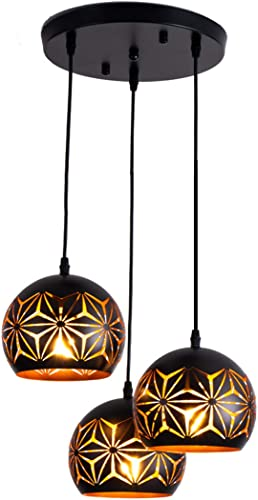Black Pendant Lighting Industrial Hanging Lamp Adjustable Light Fixture