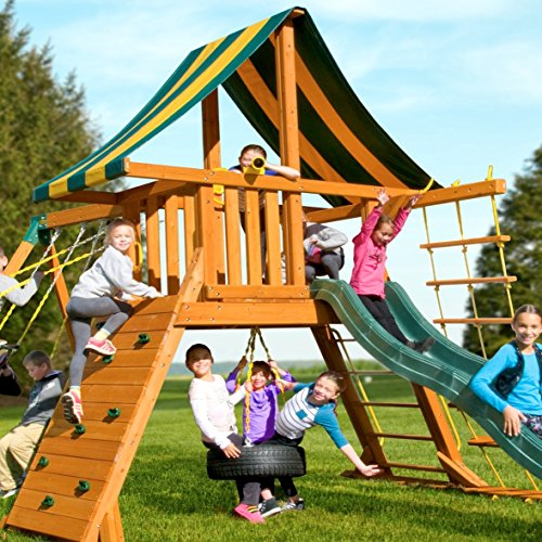 Eastern Jungle Gym Extra Large Plastic Toy Telescope Swing Set Accessory Green for Outdoor Wooden Swing Set by Eastern Jungle Gym (Image #4)'