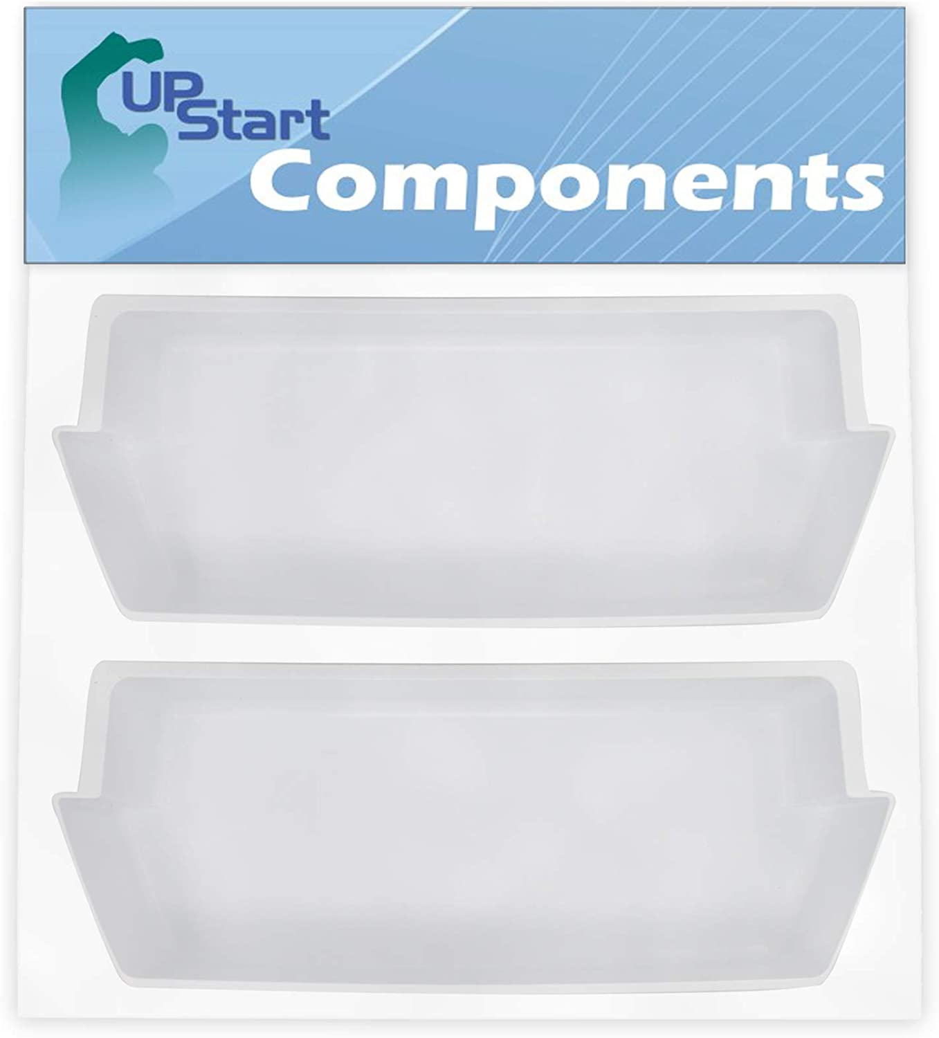 2-Pack 2187172 Refrigerator Door Bin Replacement for Amana ASD2522WRW03 Refrigerator - Compatible with WP2187172 Deep Shelf - UpStart Components Brand