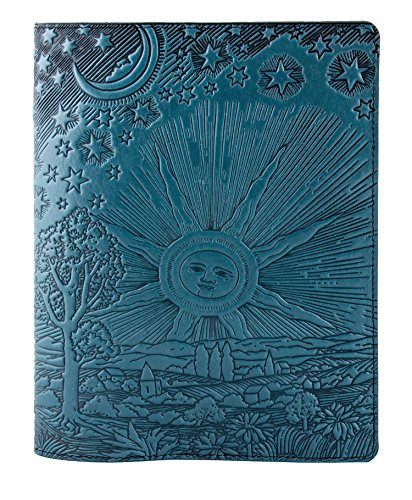 Genuine Leather Composition Notebook Cover + Insert | 8.25 x 10.25 Inches | Roof of Heaven, Sky Blue | Benchcrafted in the USA by Oberon Design by Oberon Design