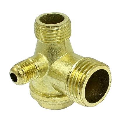 Compresor de valvula de retencion - TOOGOO(R) Rosca macho de laton compresor de