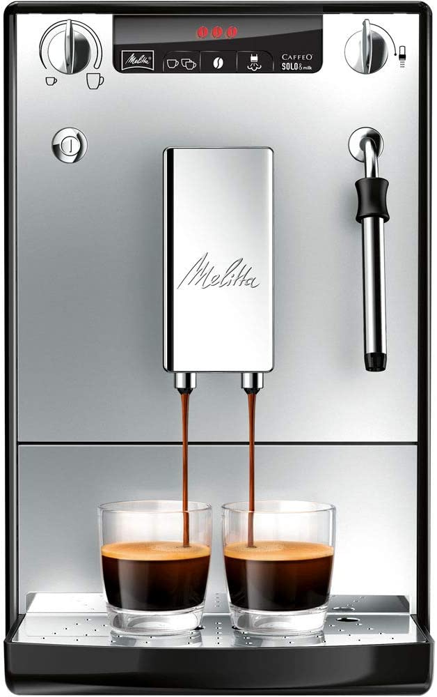 Melitta SOLO & Milk E953-102, Bean to Cup Coffee Machine, with Milk Steamer