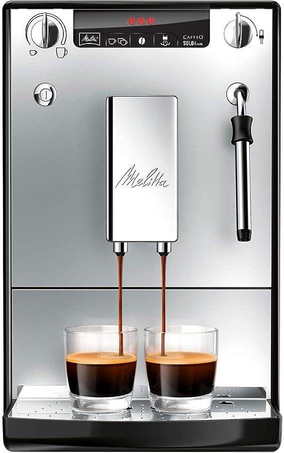 Melitta Caffeo Solo&Milk E953-102 - Cafetera Automática, Espumador de Leche Extra, Pantalla LED, 1.2 Litros, Plata: Amazon.es: Hogar
