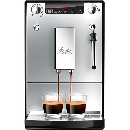 Melitta Caffeo Solo&Milk E953-102 - Cafetera Automática, Espumador de Leche Extra, Pantalla LED, 1.2 Litros, Plata