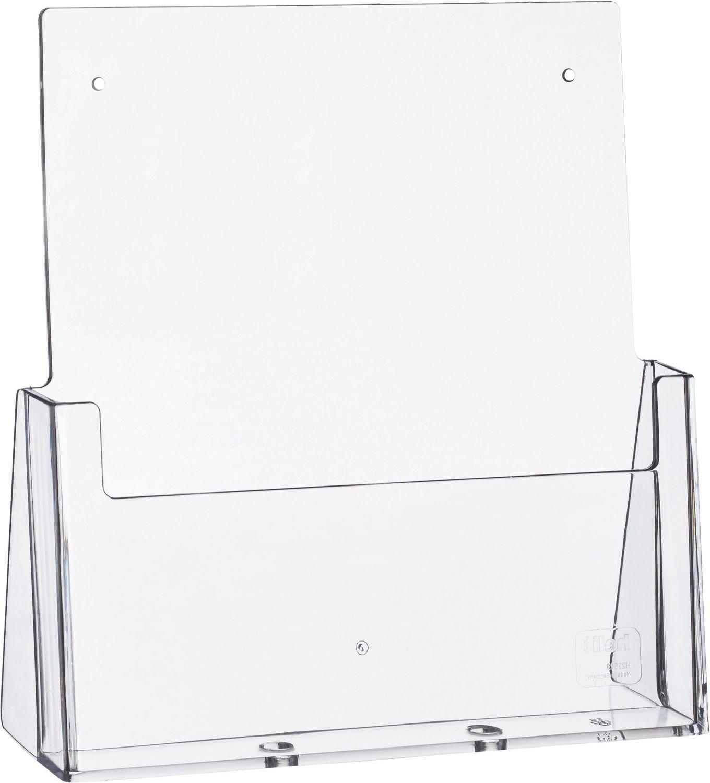 helit h2352302–Tavolo–Espositore per DIN A4, alto, trasparente 5161171