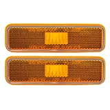 Pair of Front Signal Side Marker Light Lamp Replacement for Dodge Plymouth Pickup Truck 3587436