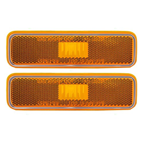 Pair of Front Signal Side Marker Light Lamp Replacement for Dodge Plymouth Pickup Truck 3587436 -
