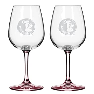Boelter NCAA Florida State Seminoles Wine Glass (2-Pack)
