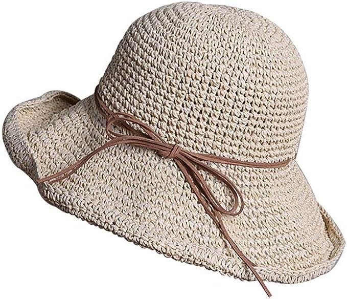 Damen Elegant Hüte Sommerhut Sonnenhut Schlapphut Strandhut Strohhüte Hut Mütze