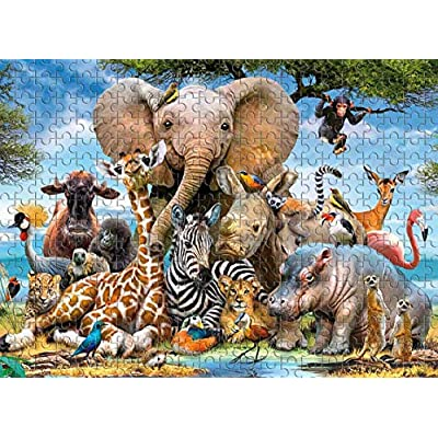 1000 PCS Jigsaw Puzzles - Animal World, Educational Intellectual Decompressing Fun Game for Kids Adults Large Puzzle Game Toys Gift: Toys & Games