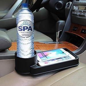 AUTUT Universal Car Cup Holder Multifunctional Drink Food Bottle Tray Holder Seat Side Organizer Gap Catcher